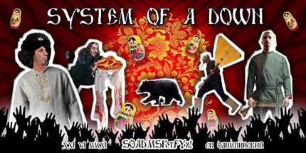 System Of A Down Russian Poster